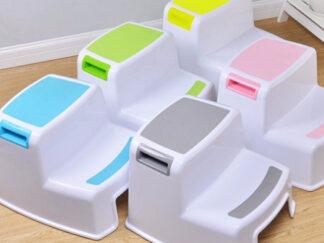 Stupendous Child Toilet Dual Height Folding 2 Step Stool For Kids Al Dailytribune Chair Design For Home Dailytribuneorg