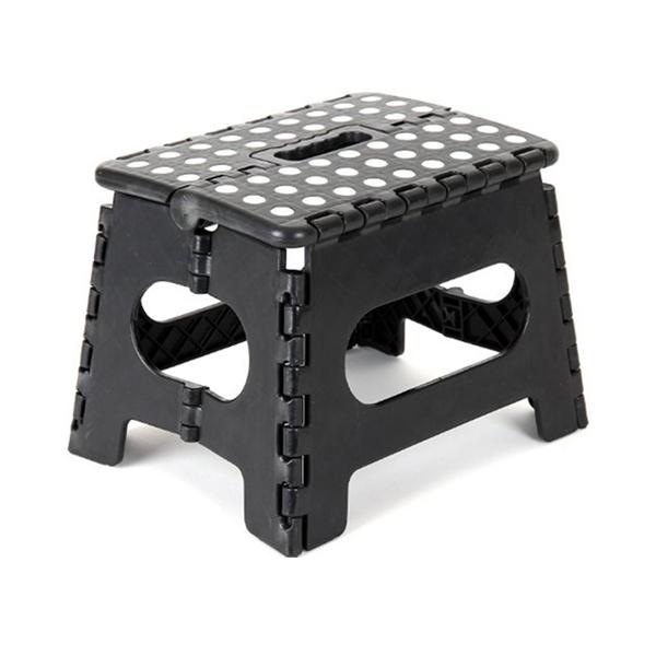 Fine Portable Plastic Black Folding Step Stool Al Stock Pabps2019 Chair Design Images Pabps2019Com
