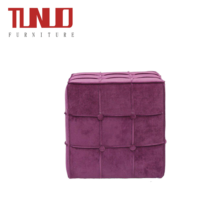 Outstanding Square Fabric Ottoman Stool With Piping Tb 7505 Al Stock Dailytribune Chair Design For Home Dailytribuneorg